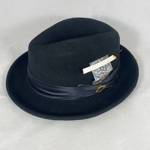STACY ADAMS Classic Fedora Pinch Front Hat NWT